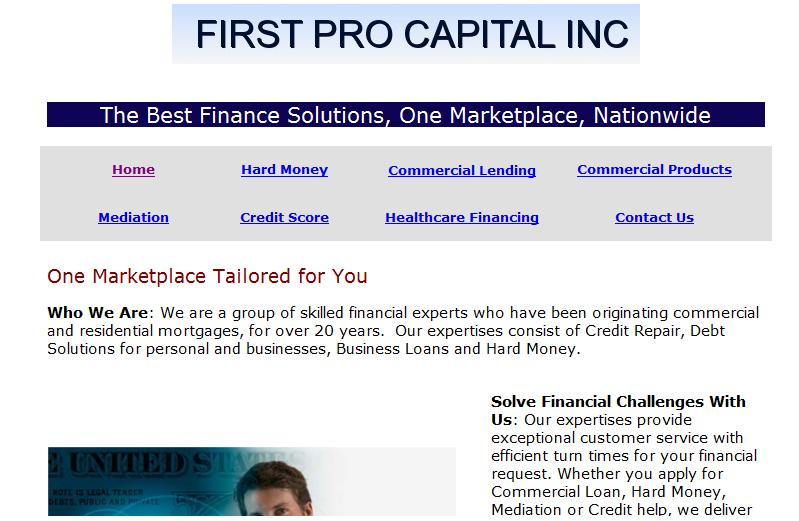 First Pro Capital Before Get Found Now