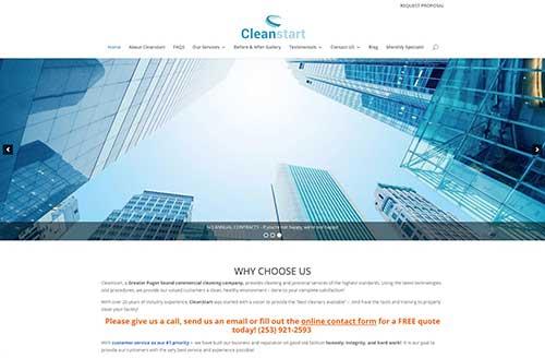 Clean Start website